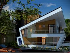 villa - modern villa modern villa -modern villa - modern villa modern villa - Holiday House in Vilapol / Padilla Nicás Arquitectos House Front Design, Roof Design, Exterior Design, Modern Villa Design, Modern Architects, House Elevation, Modern House Plans, Facade House, Architecture Design