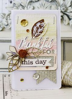 Thankful For This Day Card by Melissa Phillips for Papertrey Ink (August 2014)