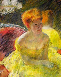 В театре (деталь),  Мэри Cassat, 1879.