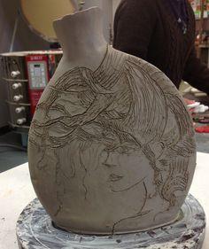 High School Ceramics Slab Construction Student Will Be