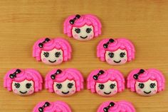Abby Cadabby hair bow centers lot of 6 scrapbook cabochon flat back craft diy