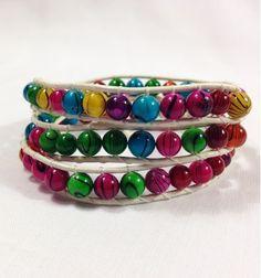 Colorful 3 Wrap Leather Bracelet - Defining Ethos