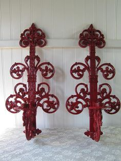 Berry Fabulous Vintage Homco Candle Sconces by IndigoPearlStudio, $20.00