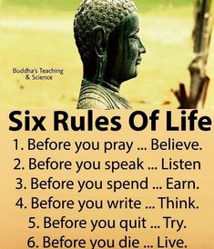 6 rules of life