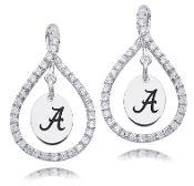 Figure 8 University of Alabama Sterling Silver Earrings