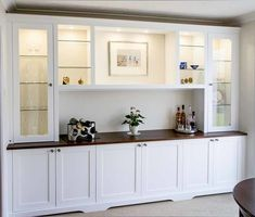 Trendy wall storage unit built ins kitchen cabinets Living Room Built In Cabinets, Living Room Built Ins, Living Room Wall Units, Dining Room Buffet, Dining Room Walls, Dining Room Storage Cabinets, Tv Cabinets, Living Rooms, Alcove Cupboards