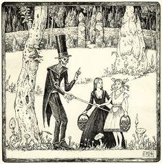 Der Tod belehrt zwei junge Mädchen (Death is teaching two young girls)
