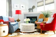 Inspired by this colorful eclectic living room design by Era Home Designs . Bohemian Living Rooms, Colourful Living Room, Eclectic Living Room, Living Room Chairs, Living Room Furniture, Living Room Decor, Bedroom Decor, Small Living Room Design, Living Room Designs