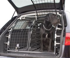 Dog barrier/guard for automobiles by Kleinmetall Dog Cages For Cars, Car Pet Barrier, Pet Transport, Dog Trailer, Peugeot 3008, Dogs And Puppies, Doggies, Dog Car, Puppy Care