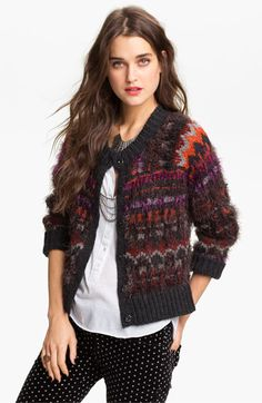 Free People 'Pattern Party' Cardigan available at #Nordstrom