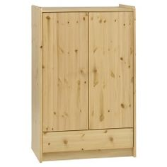 #Kids #BedroomFurniture -  Natural pine low robe - 2 door, 1 drawer
