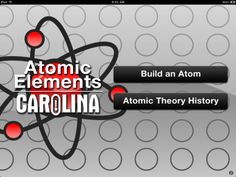 Constructor de átomos. Gratis. Aplicación muy sencilla para construir átomos en el iPad. Contiene también la teoría atómica en inglés. Sirve para repasar los conceptos de número atómico y de masa atómica, ya que eso son los valores que nos dan y con ellos debemos averiguar el número de protones, electrones y neutrones: es una forma más divertida de construir y visualizar.