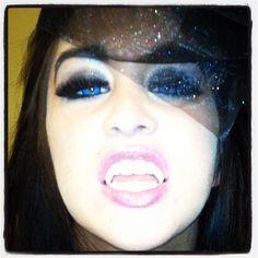 #halloween #vampire #uvcontacts #makeup #blue #dark #scary