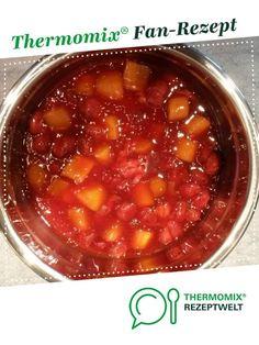 Erdbeer-Rhabarber-Kompott von ProfSnugles. Ein Thermomix ® Rezept aus der Kategorie Desserts auf www.rezeptwelt.de, der Thermomix ® Community.