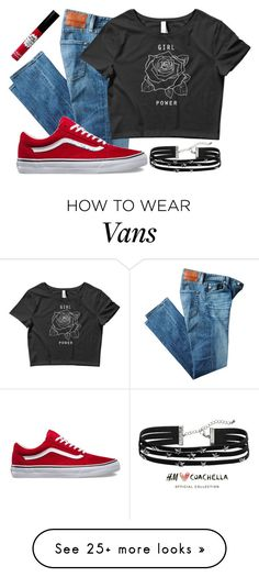 """Untitled #807"" by bree-rayne on Polyvore featuring AG Adriano Goldschmied, H&M and TheBalm"