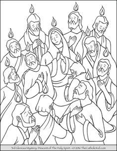 pfingsten 2 | kirche für kinder, ausmalbilder