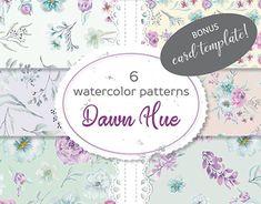 Wreath Watercolor, Watercolor Pattern, Watercolor Flowers, Flower Pattern Design, Wedding Clip, Coordinating Colors, Digital Pattern, Color Patterns, Hue