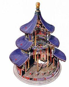 #chinese #architecture 明嘉靖九年始建,清光绪重建 北京天坛祈年殿