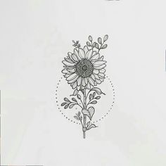 Make it a daisy and I'm sold Dream Tattoos, Future Tattoos, New Tattoos, Body Art Tattoos, Small Tattoos, Cool Tattoos, Tatoos, Sunflower Tattoos, Sunflower Tattoo Design