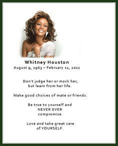 Whitney Houston ~ RIP