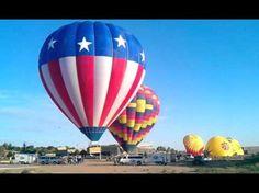 Hissing hot air balloons
