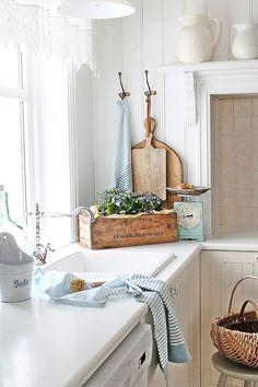 Scandinavian Cottage and Farmhouse Decor — 11 Beautiful Examples on Dagmar's Home.  http://DagmarBleasdale.com