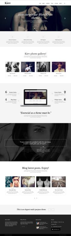 15 New Awesomely Design Website Templates of 29th March 2015:   KIEV is a minimal WordPress Theme for Business & Photography with multiple concepts of showcase & gallery options perfect for every #creative photographers #websites.