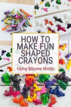 Making Crayons, Diy Crayons, Broken Crayons, How To Make Crayons, How To Make Silicone, Diy Silicone Molds, Melted Crayon Crafts, Crayon Molds, Recycled Crayons