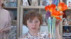 Декор стеклянной вазы хрустальной пастой Видео урок Елены Колгановой
