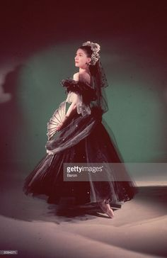 Ballerina Margot Fonteyn in 'Apparitions'. Choreography by Frederick Ashton with designs by Cecil Beaton.