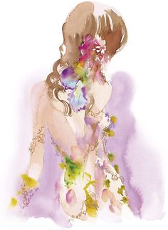 A beautiful water colour illustration by Lolita Lempicka