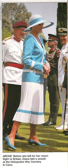 May 15, 1992: HRH Diana, Princess of Wales visited a war grave in the desert and laid a wreath in memory of British and Commonwealth troops who died in the Second World War campaign which led to the victory of El Alamein in 1942.