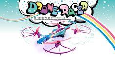 1/18 Scale Radio Control DRONE RACER  G-ZERO Pastel Rainbow   Readyset 20571PR