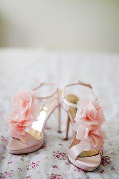 Whitney Heard | Wedding, Portrait, and Family Photography, Blush pink wedding shoes!