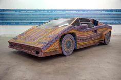 Dream car lotto ticket scratch off art