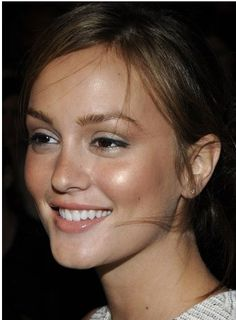 Fresh dewy make-up!  Shown:  Leighton Meester.