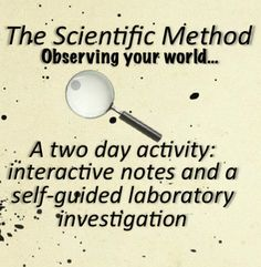 Scientific Method and Graphing Interactive notes and self-guided laboratory investigation. The middle school Science kids love to come up with their own way to test their hypothesis. two day activity!