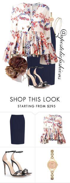 """Apostolic Fashions #1743"" by apostolicfashions ❤ liked on Polyvore featuring Amanda Wakeley, MSGM, Gucci, Emporio Armani and Chicnova Fashion"