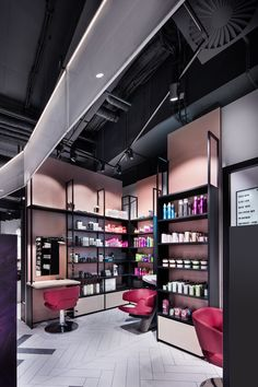 DIA – Dittel Architekten develops an innovative retail design for Mußler Beauty by Notino, a symbiosis of online and stationary trade. Pharmacy Design, Retail Design, Hair Stores, Pop Up Stores, Retail Stores, Beauty Supply Store, Rustic Room, Cosmetic Shop, Retail Interior