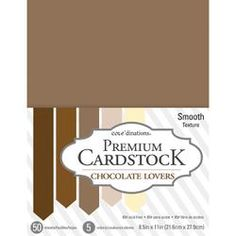 """CORE'DINATIONS VALUE PACK SMOOTH CARDSTOCK 8.5""""X11"""" 50/PKG CHOCOLATE LOVERS"""