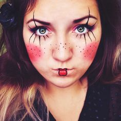 Fasching Make Up im letzten Moment: Clown schminken Anleitung - DIY, Fasching - ZENIDEEN