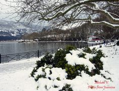 Pamvotida lake, Ioannina Our Town, My Land, Greece, Dreams, City, Places, Winter, Travel, Outdoor