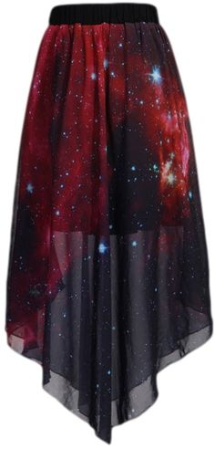 PSEZY Women floral Galaxy skirt for women chiffon at Amazon Women's Clothing store:
