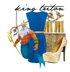 """""""King Triton"""" by niennamarie ❤ liked on Polyvore featuring Vanessa Mooney, Bing Bang, Hervé Van Der Straeten, Warehouse and ASOS"""