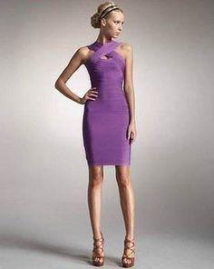 Nadia Halter Bandage Dress