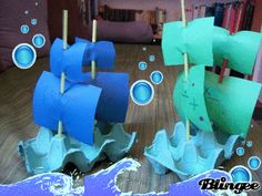 The best way to learn history is to get hands on! This easy egg carton Mayflower boat craft is simple enough for little kids, and fits mini dolls too. Boat Crafts, Pirate Crafts, Summer Crafts, Craft Activities For Kids, Preschool Activities, Crafts For Kids, Egg Carton Crafts, Pirate Theme, Kids And Parenting