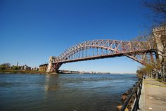 hell gate bridge. astoria park. nyc.