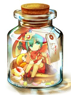 Nigobox, VOCALOID, Hatsune Miku, In a Bottle, Jelly Beans, Pixiv Bottle