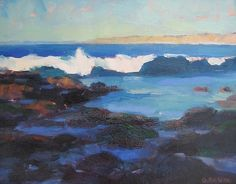 "Tide Pools at the Cove, La Jolla by Catherine Grawin Oil ~ 14"" x 18"""