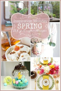 Spring DIY, Craft and Recipe Ideas - Our Southern Home #spring #springdecor #springdecorating